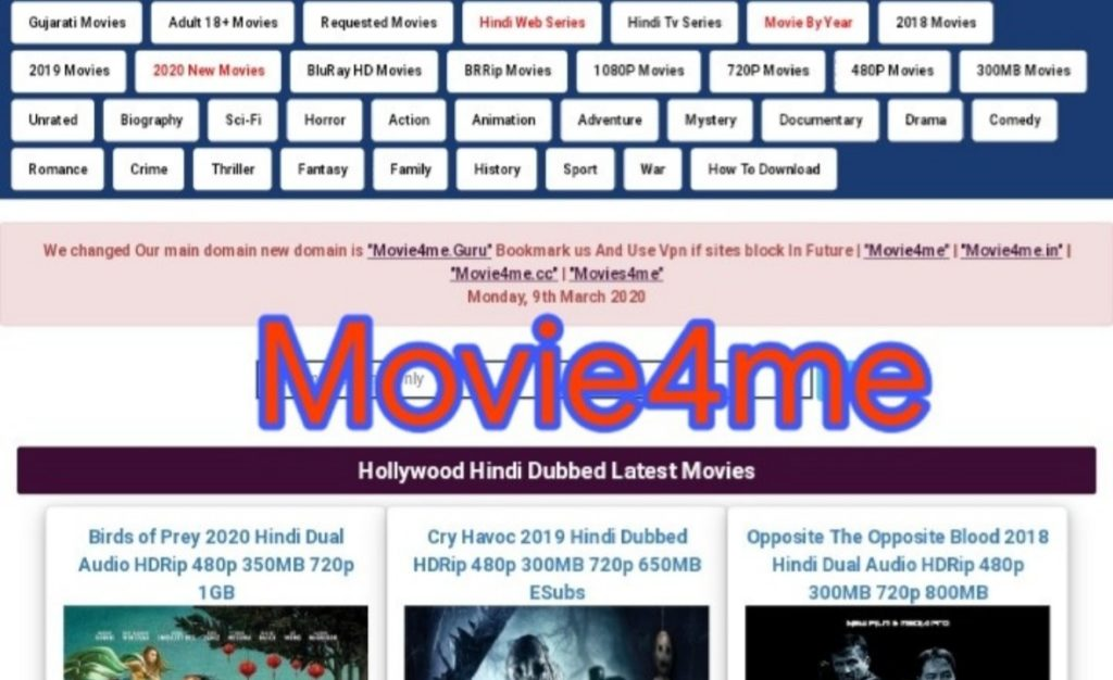 Movie4me website