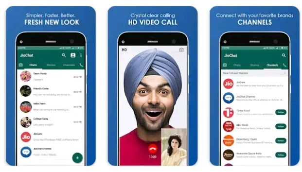 jio chat  video calling app