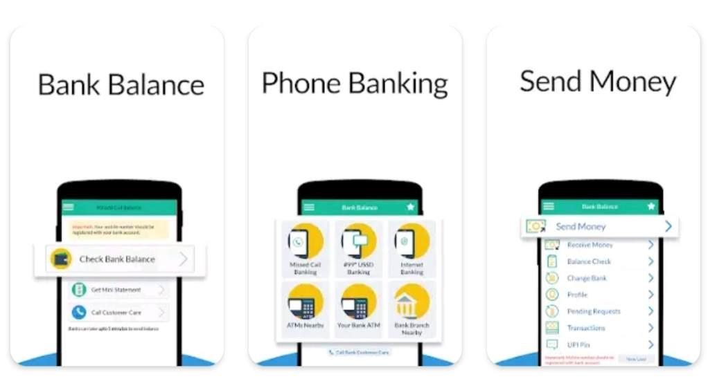 bank balance check karne wala number